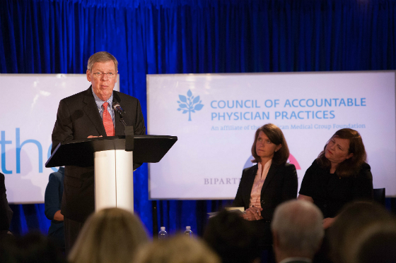 Sen. John Hardy Isakson (R-GA) speaking at the Better Together Health 2016 event recently in Washington, DC.