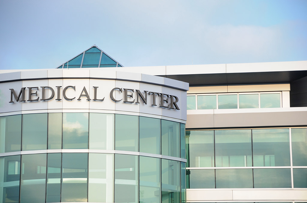 Front of a medical center