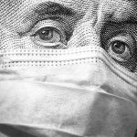 Ben Franklin engraving with surgical mask